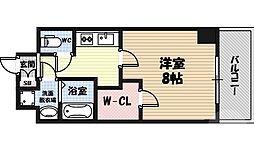 レジデンス大阪城東アペリオ 5階1Kの間取り