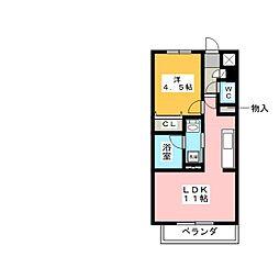 RUINS TAMANOI[1階]の間取り