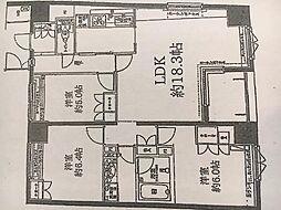 神奈川県横浜市西区楠町4の賃貸マンションの間取り