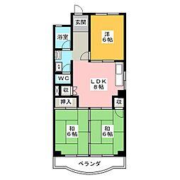 稲垣ビル[1階]の間取り