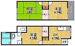[テラスハウス] 大阪府枚方市田口1丁目 の賃貸【/】の間取り