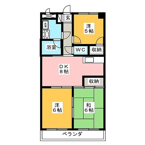 マンション司[2階]の間取り