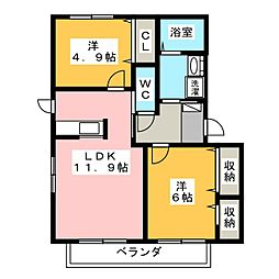 コンフォールK[1階]の間取り