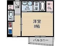 ステューディオ12[3階]の間取り