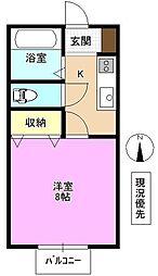 長野県長野市金井田の賃貸アパートの間取り
