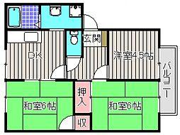 ドミール深井[2階]の間取り