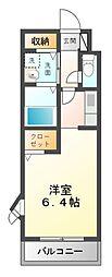 ラフィネ山崎[1階]の間取り