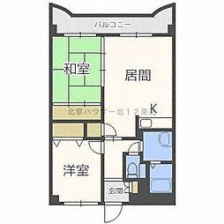 カクマン中央グローリーマンション[7階]の間取り