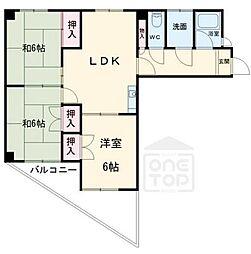 日映マンション2[10階]の間取り