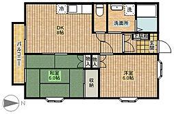 コーポアキヤマ[105号室]の間取り