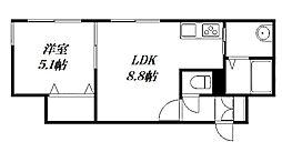 仮称)北16西4 新築MS[3階]の間取り