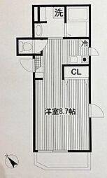 平川共同住宅[202号室]の間取り