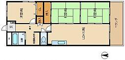 泉佐野メゾンドフルール[4階]の間取り