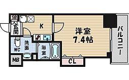ラグゼ江戸堀[10階]の間取り