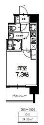 S-RESIDENCE新大阪Ridente[406号室号室]の間取り
