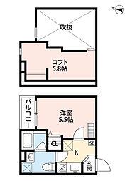 兵庫県神戸市垂水区泉が丘2丁目の賃貸アパートの間取り
