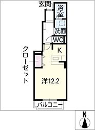 フィオーレ・メイ[1階]の間取り