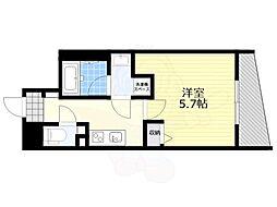 恵比寿YKマンション 4階1Kの間取り