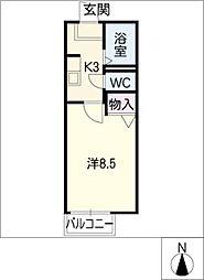 コアロード立花[1階]の間取り