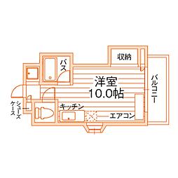 熊本県熊本市中央区子飼本町の賃貸マンションの間取り