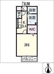 クレイドル那加 A棟[1階]の間取り