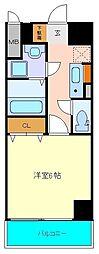 仙台市営南北線 北四番丁駅 徒歩3分の賃貸マンション 3階1Kの間取り
