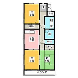 パークサイドグリーン[2階]の間取り