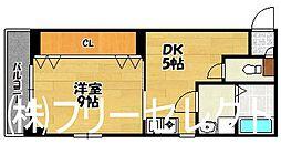 福岡県福岡市博多区大博町の賃貸マンションの間取り