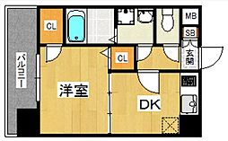 YGM博多[2階]の間取り