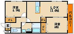 へーベルマンション大久保I[1階]の間取り