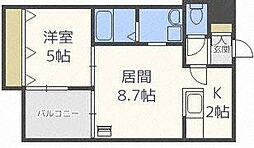 デルフィーノ麻生II[1階]の間取り