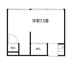 清美荘[201号室]の間取り