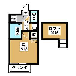 アップルハウス福室[2階]の間取り