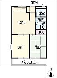 アムール林B[2階]の間取り