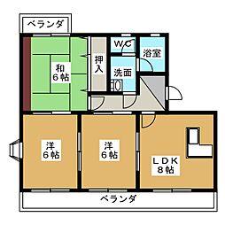 ラ・カシタ・グリスIII[2階]の間取り