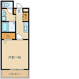 兵庫県尼崎市南武庫之荘1丁目の賃貸アパートの間取り