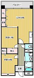 ミサキアソシア[602号室]の間取り