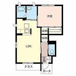 和歌山県和歌山市太田の賃貸アパートの間取り