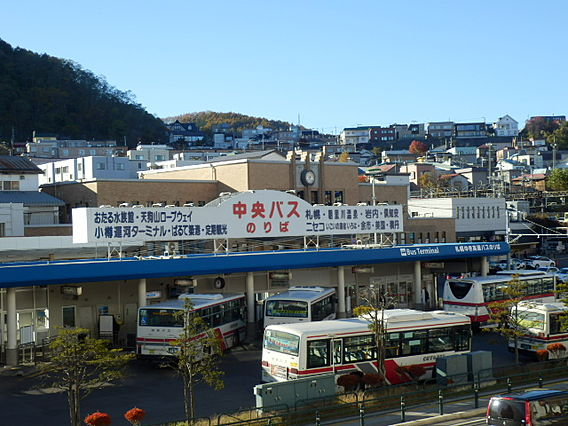 バス停北海道中...