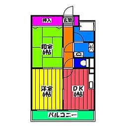 ゆう和ビル[6階]の間取り