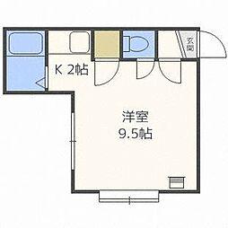 北海道札幌市東区北八条東12丁目の賃貸アパートの間取り