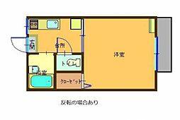 福田ハイツ[202号室]の間取り