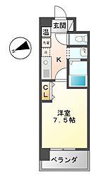 エーエスレジデンス千代田(AS[7階]の間取り