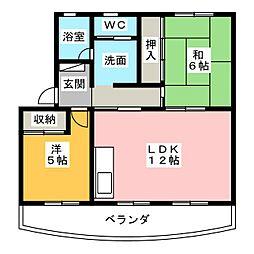 ドムアンSS[3階]の間取り