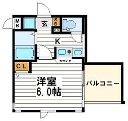 エステムコート心斎橋EASTエリジオン[4階]の間取り