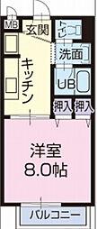 Surplus One サカイ[1階]の間取り