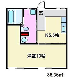 フォーブル高宮[B205号室]の間取り