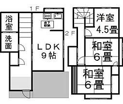 [一戸建] 愛媛県松山市今在家4丁目 の賃貸【愛媛県 / 松山市】の間取り