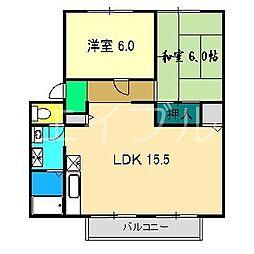 イチゴハイツI B棟[1階]の間取り