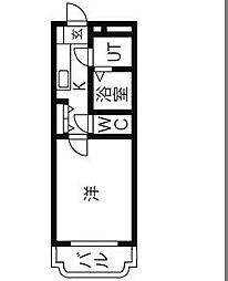 Y&Mウィング・リバー[2階]の間取り